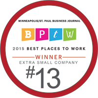 2015 Best Places to Work / Extra Small Company / #13